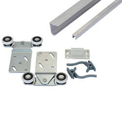 Раздвижная система для двери 1,8м Новатор 288/2 до 40 кг.