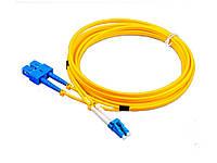 Патчкорд гибридный LC/UPC- SC/UPC SM duplex 1 метр TelStream