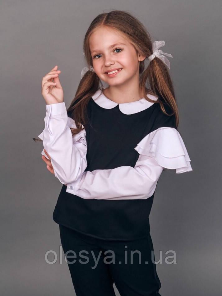 Обманка с жемчугом на девочку Размеры 128 -158