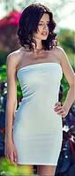 Платье чулок из микрофибры Greenice белое. Платье туника микрофибра. Размеры 42 - 50. Оптом и в розницу