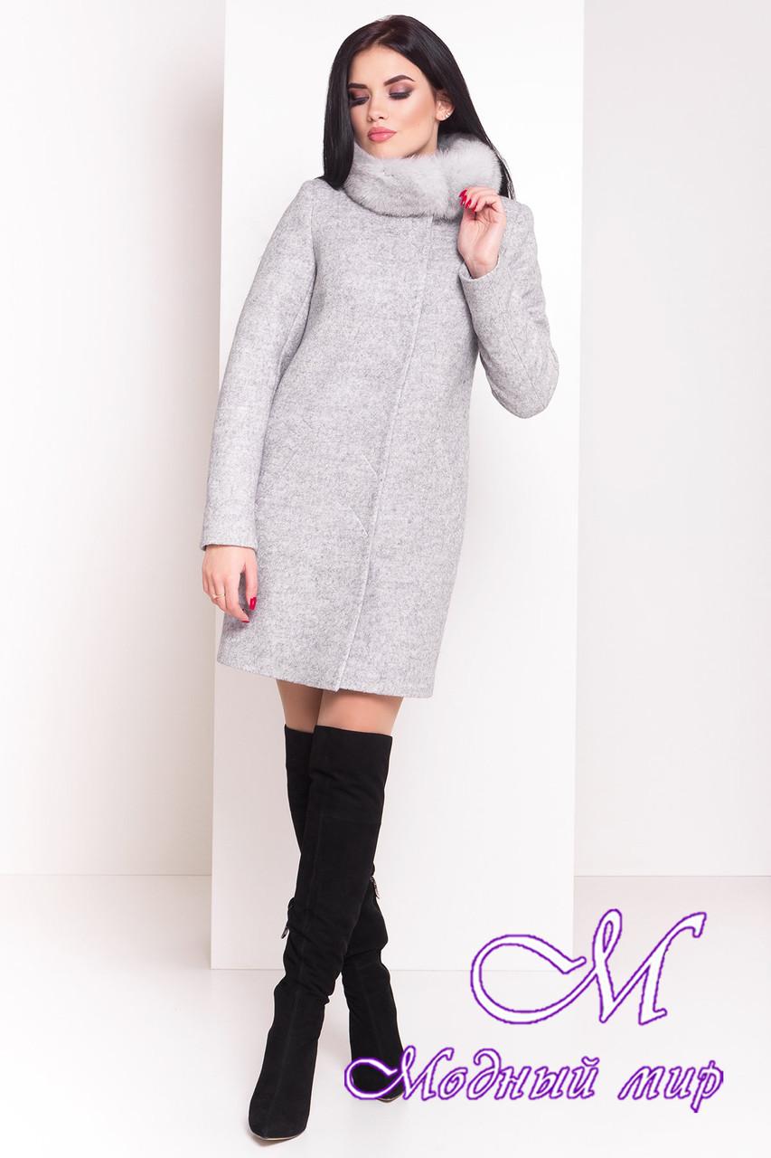 Женское красивое зимнее пальто с мехом (р. S, М, L) арт. Фортуна 3603 - 19155