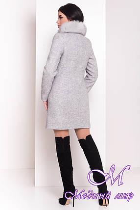 Женское красивое зимнее пальто с мехом (р. S, М, L) арт. Фортуна 3603 - 19155, фото 2