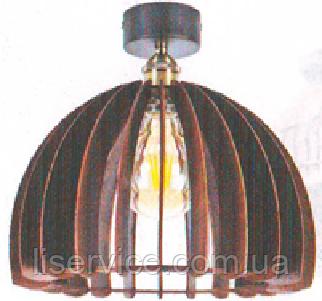"""Светильник Loft ТМ """"ДЕКОРА""""  НББ 1*60ВТ, Е27, d 335, h 195, номер 13650 венге, фото 2"""