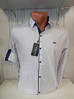 Рубашка мужская Paul Smith длинный рукав, мелкий узор, 20.08.2018 №2, стрейч 001 \ купить рубашку