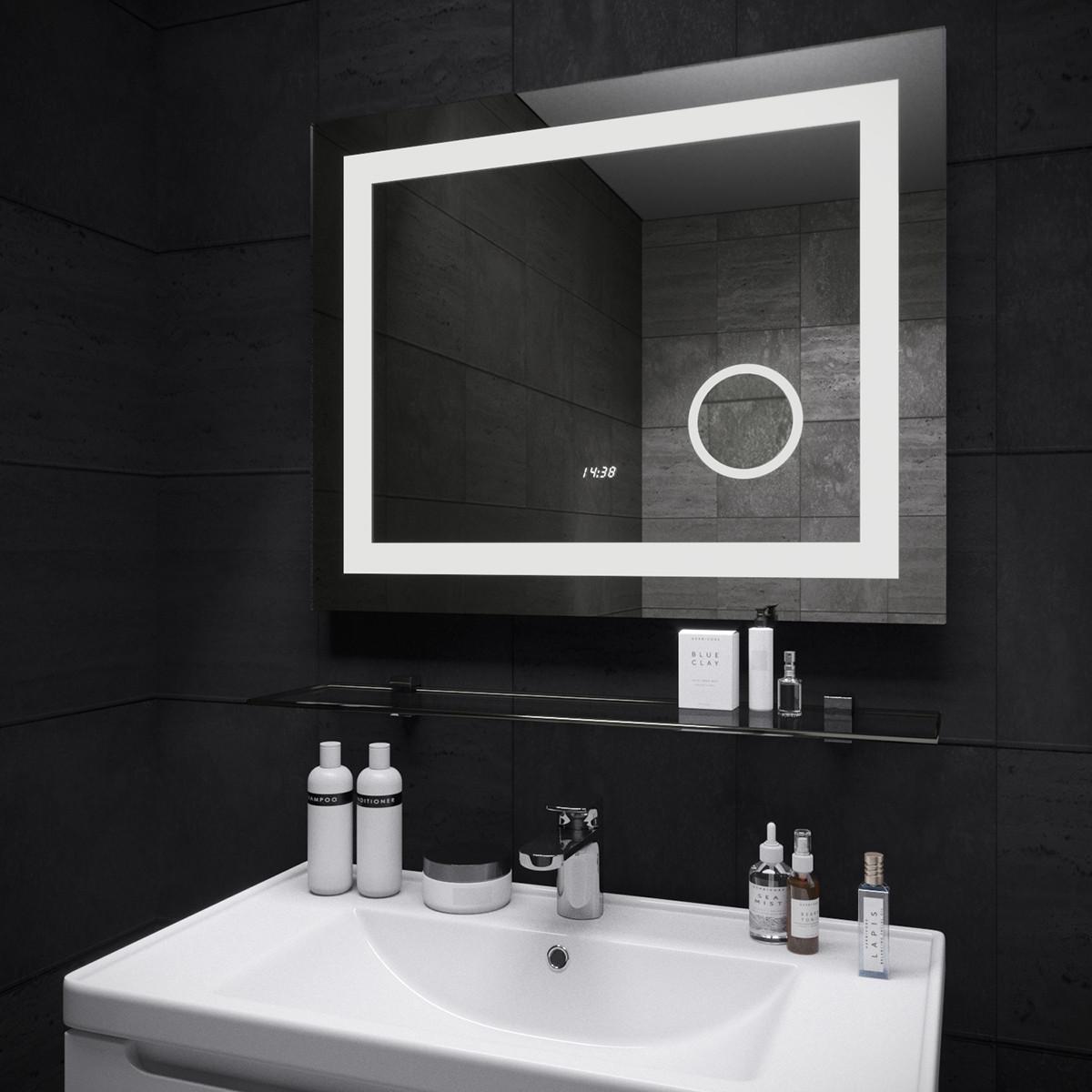 Зеркало с часами Ultra Mega Sanwerk 100*65