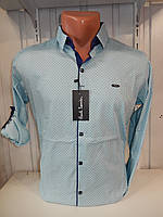 Рубашка мужская Paul Smith длинный рукав, мелкий узор, 20.08.2018 №4, стрейч 004 \ купить рубашку