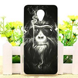 Чехол силиконовый для Meizu M6 с картинкой обезьяна