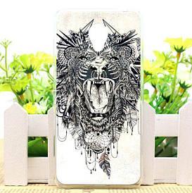 Чехол силиконовый для Meizu M6 с картинкой лев