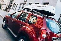 Автомобильный бокс TERRA DRIVE 480л белый глянец двухсторон. открытие Центр.трехригельный замок ()