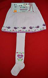 Детские хлопковые колготы с вшитой юбкой Улитка светло-розовые (р. 86-104 см) (DeMelatti, Турция)