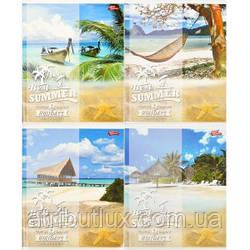 """Тетрадь цветная 60 листов, линия """"Тропический рай"""""""