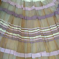 Тюль сиреневая полоса, фото 1
