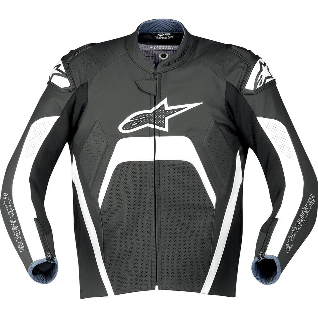 "Куртка Alpinestars TECH 1-R ""XL"" (52р.) кожа black/white"