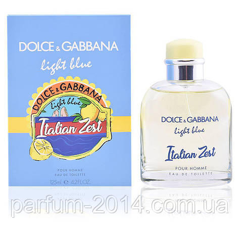 Мужская туалетная вода Dolce&Gabbana Light Blue Italian Zest Pour Homme (реплика), фото 2
