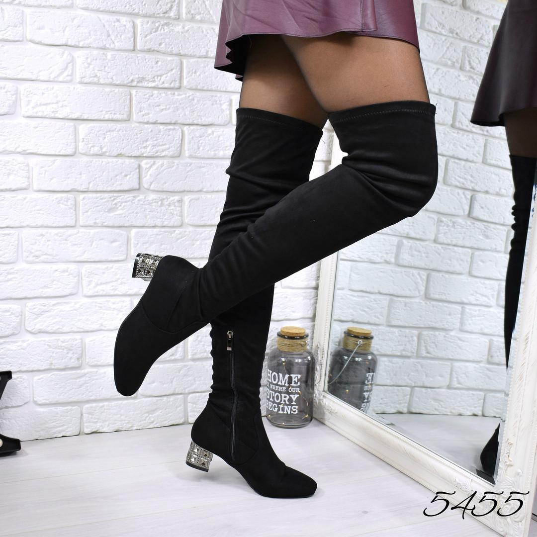 dab8e1a3949f Купить Ботфорты сапог Chanel черные женскую обувь по низкой цене в ...