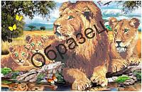 Схема для вышивки бисером «Львы»