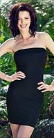 Платье чулок черное Greenice микрофибра, размеры 42 - 50, оптом и в розницу