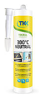 Герметик силиконовый термостойкий Tekasil Neutral, 300C, черный, 300мл   12-358