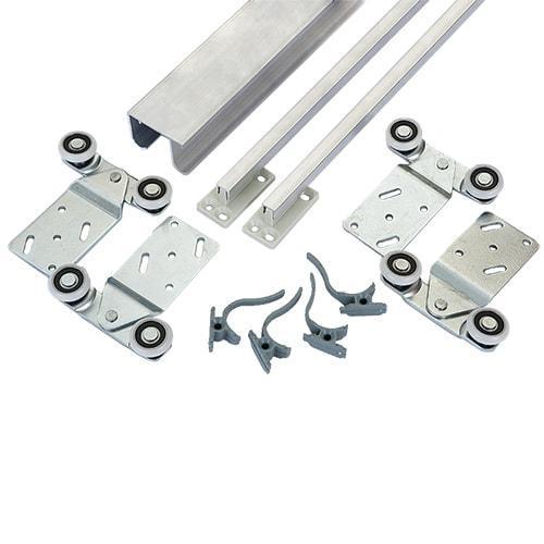 Раздвижная система верхнего опирания на 2 двери 1,5м Новатор 287/2 до 40 кг.