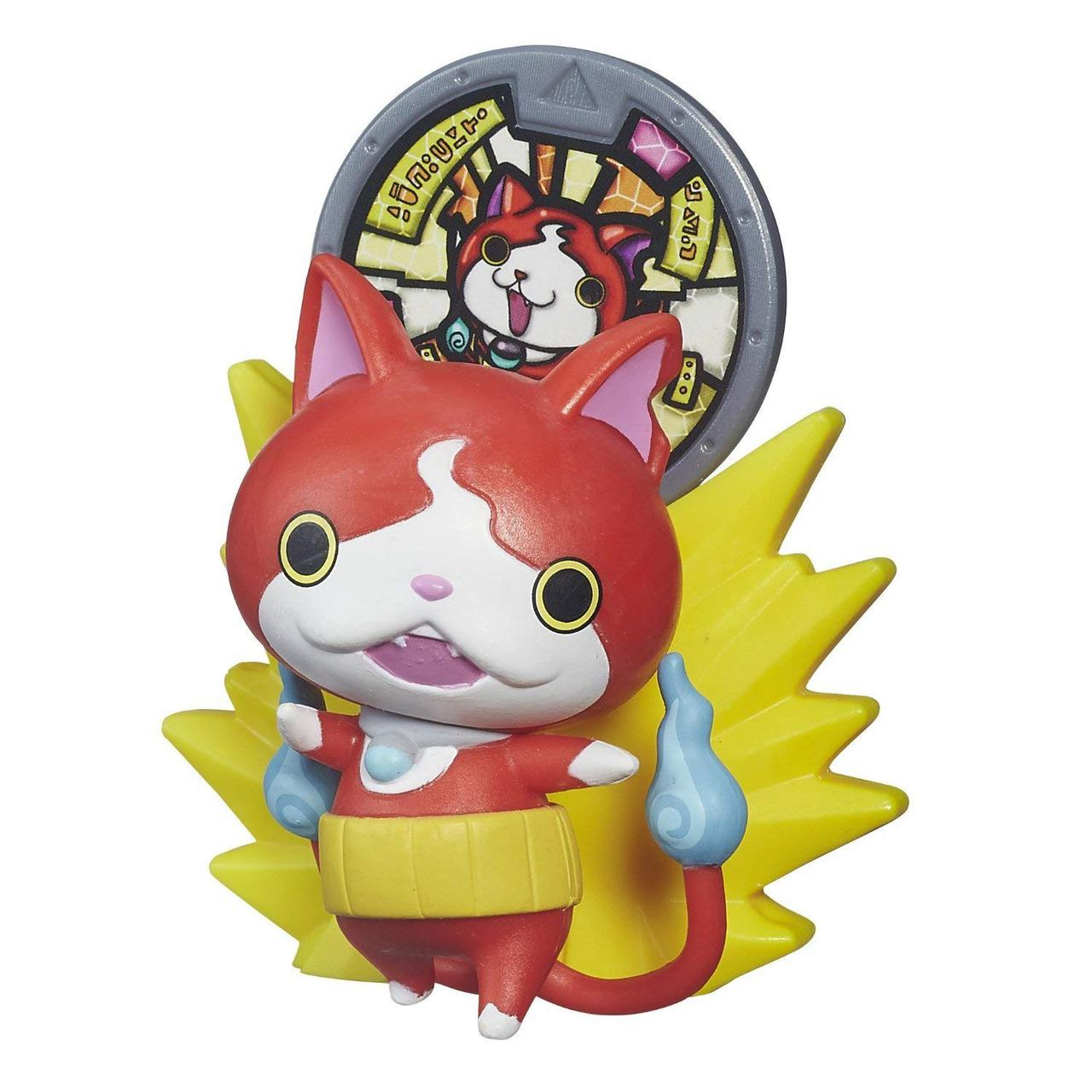 Фигурка Yo-Kai Watch с медалью - Jibanyan. Оригинал Hasbro B5938/B5937