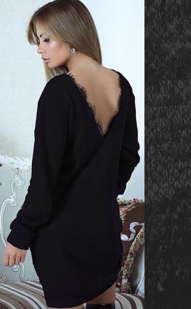 7d80939a8ec Красивое платье-туника из ангоры с открытой спиной