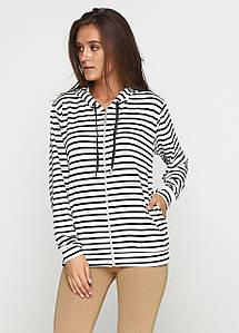 Женская кофта с длинным рукавом и капюшоном
