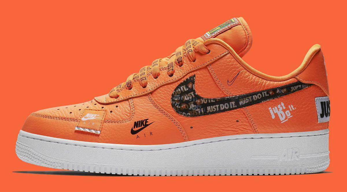 "6c986590 Кроссовки Nike Air Force 1 ""Just Do It"" Orange (Оранжевые) — в ..."