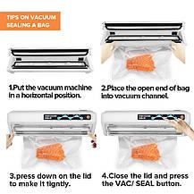 Вакуумный упаковщик продуктов Toprime 110 W 120 V автоматический, фото 3