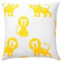 ✅ IKEA DJUNGELSKOG (603.937.40) Подушка, Лев, желтый