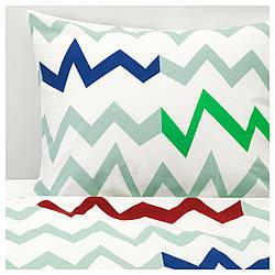 ✅ IKEA STILLSAMT (603.767.69) Комплект постельного белья, светло-зеленый, разноцветный