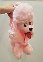 Детская плюшевая сумка игрушка собачка пудель ( только коричневая )