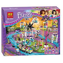 """Конструктор Bela Friends 10563 """"Парк развлечений: Американские горки"""" (аналог LEGO Friends 41130), 1136 детал"""