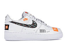 """Кроссовки Nike Air Force 1 """"Just Do It"""" White (Белые)"""
