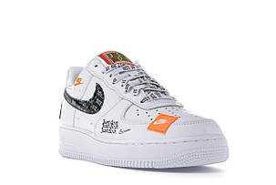 """Кроссовки Nike Air Force 1 """"Just Do It"""" White (Белые), фото 2"""