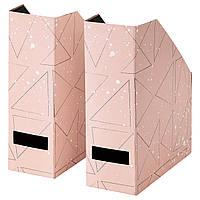 IKEA TJENA (503.982.10) Подставка для журналов, розовое, черное