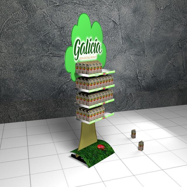 Фото изготовление торговых стоек Galicia