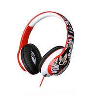 Навушники накладні провідні з мікрофоном eKids/iHome Disney Мікі Маус, Mic Black Red eKids DI-M40MY.UFX Black Red
