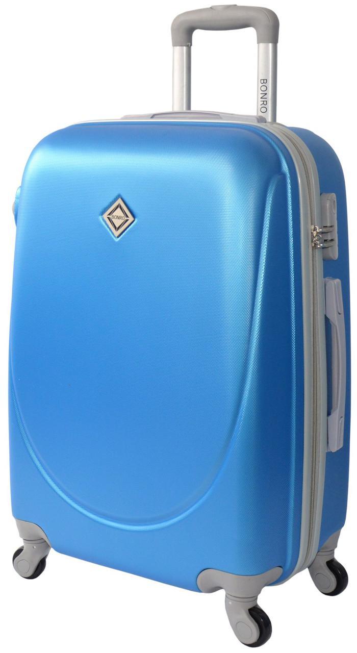Чемодан ручная кладь Bonro Smile (мини). Цвет голубой.