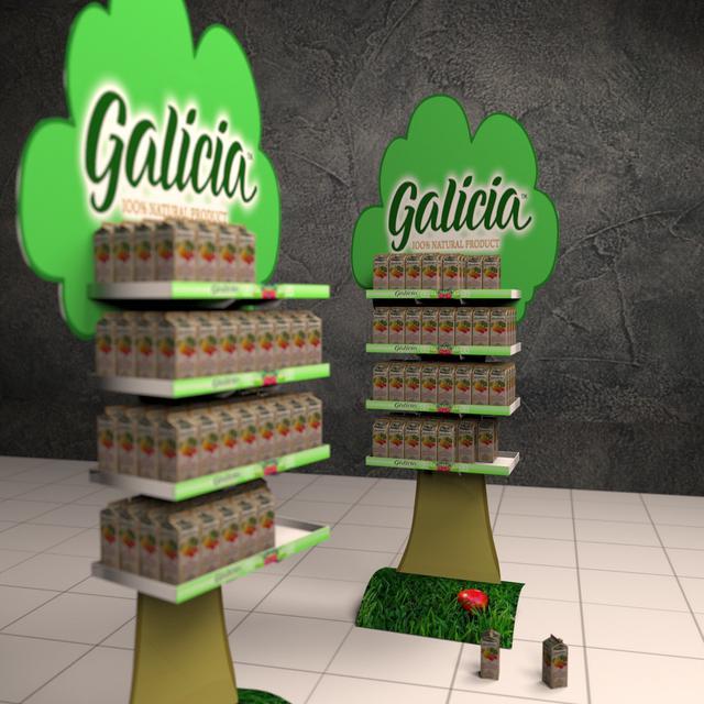 Фото рекламных торговых стоек Galicia