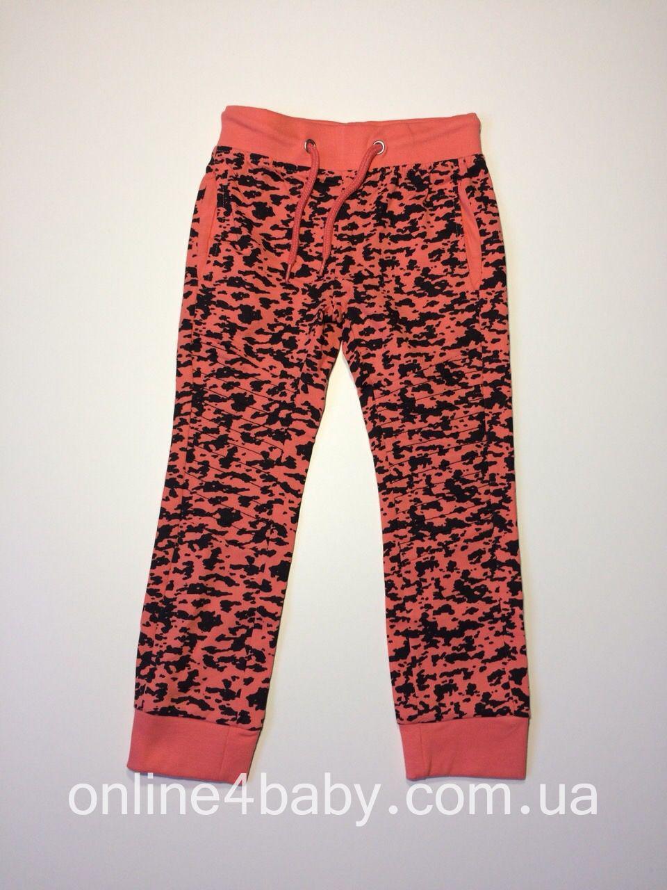Детские спортивные штаны на девочку 6-8 лет, рост 122-128