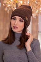 Зимняя женская Шапка «Альмерия»  Светло-коричневый