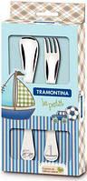 Детский набор столовых приборов Tramontina BABY Le Petit blue, 2 предмета