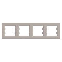 Рамка 4-а горизонтальна Asfora Бронза Schneider Electric, фото 2