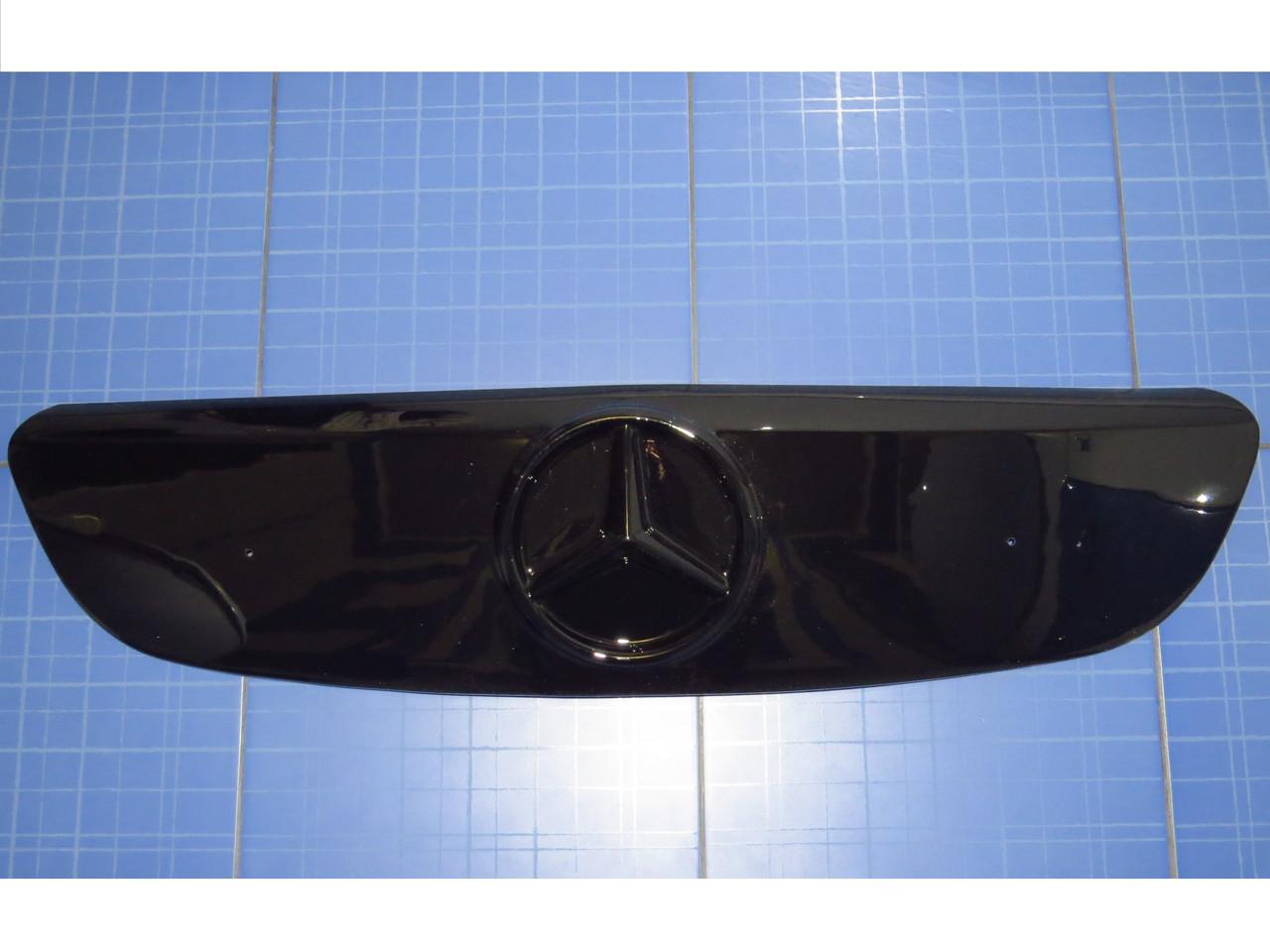 Зимняя заглушка решётки радиатора Мерседес Вито Виано верх 2003-2010 глянец Fly. Утеплитель Mercedes Vito