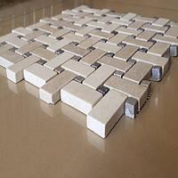 Декоративная мозаика Коллаж из мрамора полированная, лист 1х30,5х30,5, фото 1