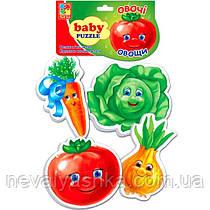 Мягкие Пазлы Пазл Овощи Vladi Toys 16 эл. набор из 4-х пазлов, VT1106-03, 004179