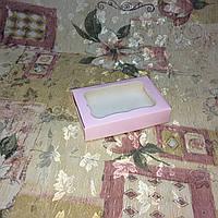 Коробка для пряников Пудрая с окном100*150*30, фото 1