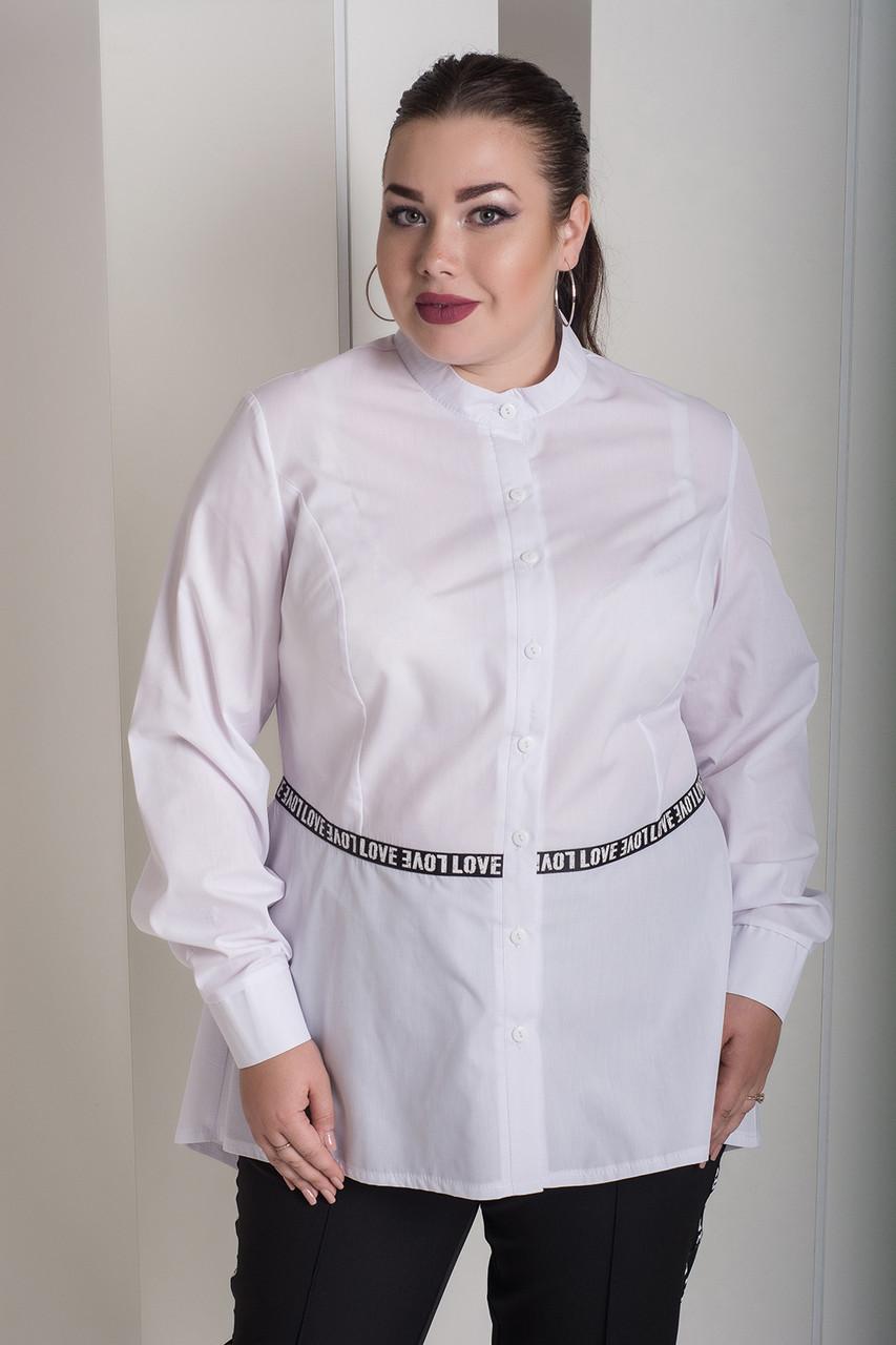 d95ddd6befc Женская рубашка больших размеров Ноктюрн белая (48-82) - 800 грн ...