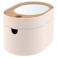 ✅ IKEA SAXBORGA (803.918.82) Коробка с зеркальной крышкой, пластиковая крышка