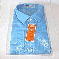 Новая голубая мужская рубашка, воротник 41см, рост 168-179см